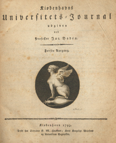 Kiøbenhavns Universitets Journal anno 1793